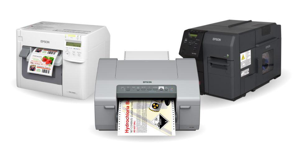 Die Etikettendrucker von Epson