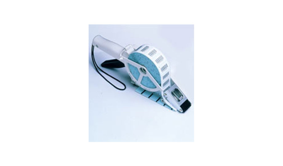Klick und klebt! Praktische Handspendegeräte aus Kunststoff für Haftetiketten auf Rollen. Etikettieren direkt vor Ort