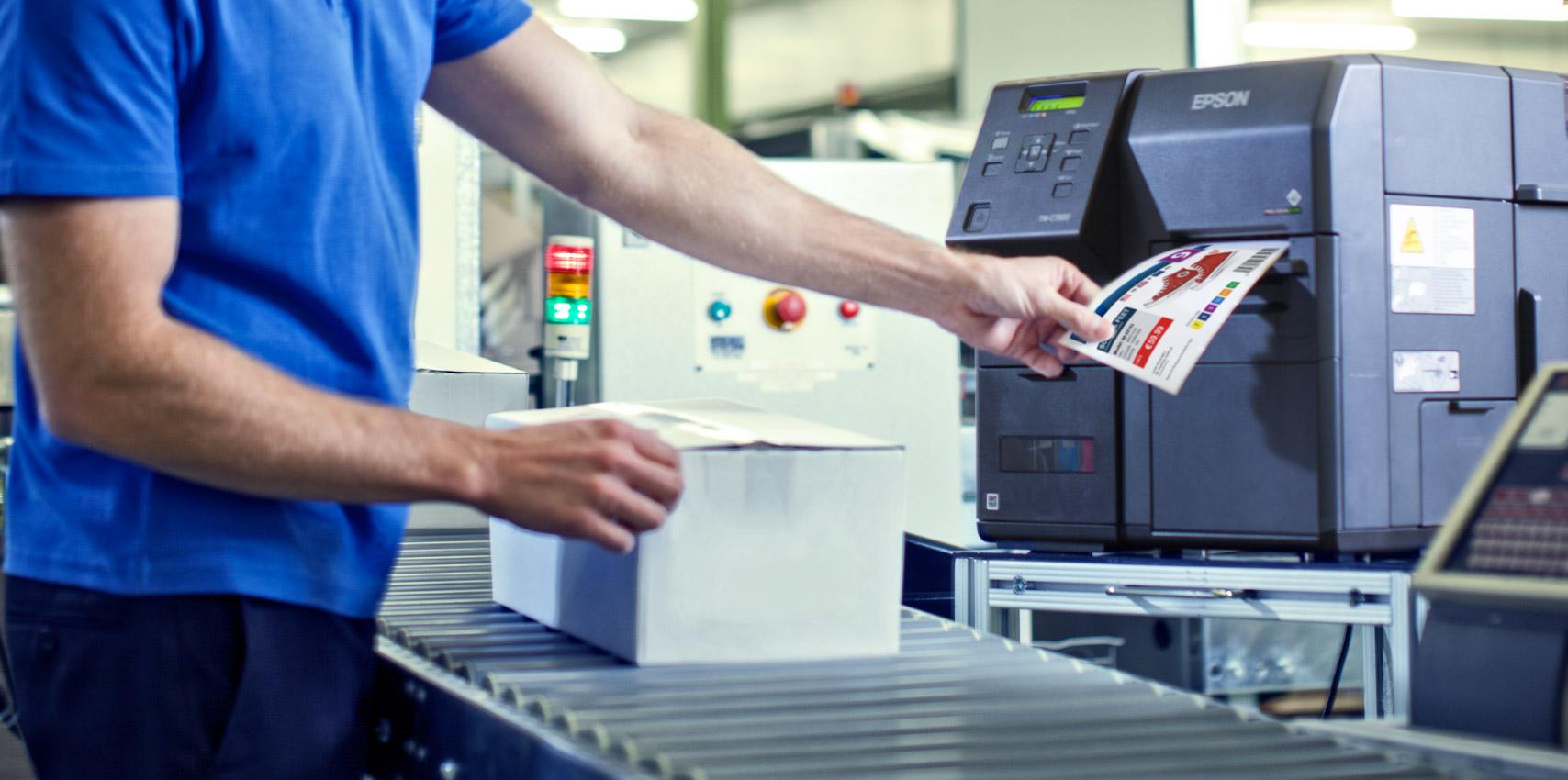 Etikettendruck mit dem Epson Colorworks C7500